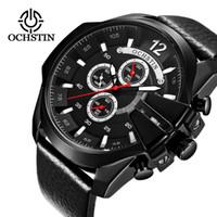 Discount big brown leather wrist watch - 2018 Mens Watch OCHSTIN Brand Luxury Casual Quartz Sports Wrist Watch Fashion Big Dial Business Relogio Masculino