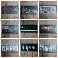 marilyn monroe pinturas venda por atacado-Vintage 30 * 15 cm Sinais de Estanho Estrela Michael Jackson Os Beatles Pinturas de Ferro Elvis Presley Marilyn Monroe Placa de Licença Posters 3 99lO BB