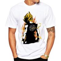 Wholesale dragon ball z cooler - Summer Cool Short Sleeve Tee Mens Womens 3D t-shirt Dragon Ball Z Unisex Casual T shirts
