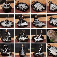 Wholesale incenses sticks for sale - Group buy 24 Style Ceramic Burner Fragrance Lotus Holder Censer Creative Aromatherapy Backflow Incense Cones Burner Stick Incense Censer