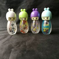 Wholesale oil lamp burner - Lovely alcohol lamp Wholesale bongs Oil Burner Pipes Water Pipes Glass Pipe Oil Rigs Smoking, Free Shipping