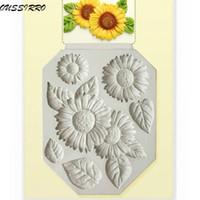 Wholesale Sun Moulds - Wholesale-Sun Flower Cake Decorating Tools Silicone Cake Molds Fondant Moulds Bakeware YB200227