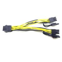 pcie tarjetas de video al por mayor-Marsnaska 6 pines PCI Express a 2 x PCIe 8 (6 + 2) pin Tarjeta gráfica Tarjeta de video PCI-e GPU VGA Splitter Hub Cable de alimentación