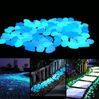 Wholesale pebble stone walkways - Glow in the Dark Garden Pebbles Stones for Yard and Walkways Decor, DIY Decorative Luminous Stones