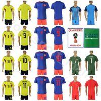 Colombia Soccer 9 Radamel Falcao Long Sleeve Jersey Set 2018 World Cup 10 James  Rodriguez 11 Juan Cuadrado Football Shirt Kits With Short 172b7db02