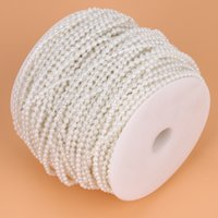 Wholesale cotton suppliers - China accessories party Suppliers 10M 3mm Pearl Garland Wedding Decoration Cotton Line Chain Pearl Beads Christmas Party Accessories