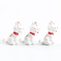 minyatür karikatür oyuncaklar toptan satış-Güzel Benekli Köpek Süs Karikatür Hayvanlar Minyatürleri Ev Masa Süslemeleri Diy Yenilik Hediye Oyuncak Doğal Reçine 0 6mj cc