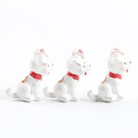 Wholesale table ornament - Lovely Spotted Dog Ornament Cartoon Animals Miniatures Home Table Decorations Diy Novelty Gift Toy Natural Resin 0 6mj cc