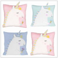 Wholesale pounding toys - 3 Colors cm Unicorn Doll Unicorn Plush Toy Cartoon Unicorn Pillow Cartoon Accessories Kids Xmas Gifts CCA9154