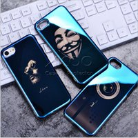 Wholesale Silicon Camera Covers - Fashion Slim Soft TPU Cases Yuri Camera Blu-ray Laser Shinning Silicon Back Cover Shockproof Protection Case For Iphone X 8 7 6s 6 Plus