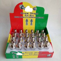 Wholesale Screws Bolts - New Arrival Screw Spy Bolt Hidden Storage Safe mental box mental pill case bag Stash Container with display package fashion