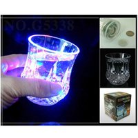 Wholesale cast glass lights for sale - Group buy Fashion Wine Glass Water Lights Novelty LED Pineapple Fun Gift Liquid Sensor Flashing Cup For Bar Night Club Party Decorations jc ZZ
