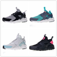 Huarache Ultra 4 ID White Textile Green South Coast Black Pink Huaraches  Running Shoes for Top quality Men Women Sports Sneakers Size 36-45 f5513a9bb