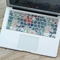 tastaturbezüge zubehör großhandel-OUSHINE Laptop Zubehör Aushöhlen Tastaturabdeckung Für Macbook Leaf Wasserdicht Staubdicht Tastaturaufkleber Für Laptop