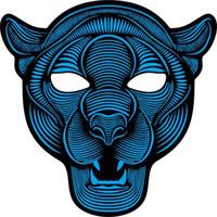 maske maskeleri toptan satış-Kaplan LED Müzik Maske Ses Kontrolü EL Maske Soğuk Işık Cadılar Bayramı Noel Cosplay Light Up Festivali Dans Partileri Kostüm
