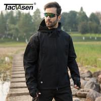 kabuk paneli toptan satış-Ordu Kamuflaj Erkekler Panelli Ceket Ceket Askeri Taktik Ceket Kış Su Geçirmez Yumuşak Kabuk Ceketler Rüzgarlık Avı Giysileri
