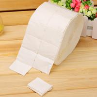 rolos de algodão para toalhas venda por atacado-300/500 Pcs sem fiapos livre toalhetes de unha polonês acrílico removedor de gel toalha de papel almofadas de algodão Roll Salon Nail Art Cleaner ferramentas