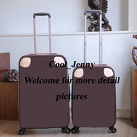 модные женские чемоданы оптовых-Прокатки багажа модельер высокое качество четыре колеса тележка сумка мужчины путешествия чемодан 20