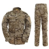 combinaison de combat tactique achat en gros de-Tactique Chasse Pêche Veste Pantalon Ensemble En Plein Air Hommes Femmes Camouflage Vêtements Militaire De Combat Uniforme Camping Randonnée Costumes
