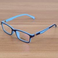 lunettes garçons bleu achat en gros de-Enfants Lunettes Enfants Incassables TR90 Lunettes Cadre Lunettes Optiques Prescription Cadres Filles Garçons Bleu Lunettes Patchwork