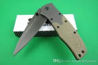 Wholesale sog knives online - SOG FA02 HRC Outdoor EDC Pocket Tool G10 Sand Color Handle Steel Blade Folding Knife Tactical Survival Hunting Christmas Gift Knives P171R