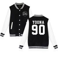 Wholesale plus size girls uniforms - Girls Generation Uniform Kpop Idol New Long Sleeve Women Baseball Jacket Women Men Girls' Generation Winter Coats Plus Size 4XL