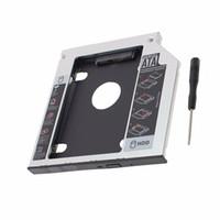 "Wholesale disk drive caddy adapter - 12.7mm 2.5"" SATA Aluminum 2nd Hard Disk Drive SSD HDD Caddy Adapter bay for Fujitsu LifeBook AH531 T730 T580 Series laptop"