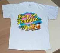 ingrosso comprare vestiti di cotone-Maglietta vintage Keep On Truckin nuova maglietta Compra tutti i formati Abbigliamento uomo 100% cotone manica corta O-Neck Top Magliette T-Shirt S
