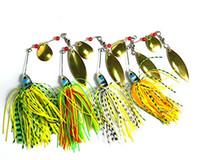 головка для приманки оптовых-BUZZBAIT Spinner lead head рыболовные приманки рыболовные приманки с голографической окрашенные лезвия для бас форель щука рыболовные снасти 17.4 г