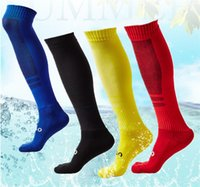 Wholesale towel wear - Towel Bottom Stockings Men's Sports Athletic Football Basketball Running Socks Over Knee High Socks 5 Colors Wear-resistant Free DHL G491Q