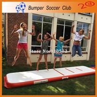 Wholesale gymnastics equipment resale online - Free Pump x1x0 m Discount Home Gymnastics Equipment Inflatable Training Air Track Inflatable Gymnastics Air Mat