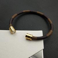 edelstahl-armband aus rostfreiem leder großhandel-Lederarmband Edelstahl Armbänder Herren Schmuck Hochwertige Charms Armbänder Schmuck Magnetarmband