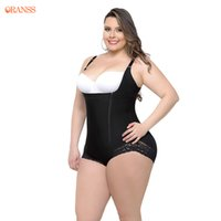 Wholesale ladies corsets plus size - S-6XL Plus Size Obese Corset Ladies Black Skin Corset Sexy Lose Weight And Bustier Sexy Lingerie Shaper Modeling Strap