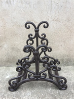 Wholesale decorative iron works - Wrought Iron Hose Rack Holder Scrowl Outdoor Garden Decorative Hose Reel Hanger Cast Iron Antique Rust Wall Mount Decor Craft Free Shipping