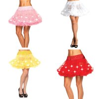 ingrosso costumi in scena-led costume adulto LED Tulle Tutu Glowing Light up Skirt Party Stage Costume spettacolo Nightclub Natale Halloween Party Dress up