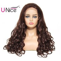 Wholesale UNice Hair Bettyou Series Brazilian Remy Hair Wigs Body Wave Lace Front Human Hair Wigs For Women Pre Plucked Free Part Bulk