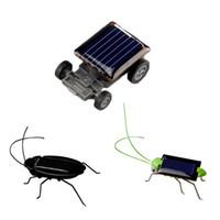 jouets scientifiques verts achat en gros de-Nouveaux enfants jouets solaires énergie fou kit de cricket sauterelle jouet jaune et vert énergie solaire insecte bug insectes sauterelle sauterelle