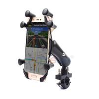 зажим велосипед руль оптовых-Универсальный велосипед Держатель телефона 360 вращающийся мотоцикл Держатель телефона руль клип стенд для iPhone Xiaomi huawei samsung