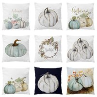 Wholesale printed cushions linen cotton for sale - Group buy Pumpkin Printed Pillow Case Halloween Xmas Decoration Cotton Blend Cushion Cover Home Sofa Car Decor Without Core Styles HH7
