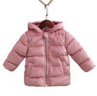 ingrosso cappotto di cotone bambino-Bambini Inverno Cappotti 2018 Nuovi Giacche Neonate Ragazzi Cappotti Moda Velluto a coste Ragazze Parka Caldo capispalla per bambini