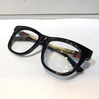 olhos óculos quadros homens venda por atacado-Luxo 4237 Designer Óculos Para Homens Marca de Moda Popular Oco Fora lente Óptica Olho de Gato Moldura Completa Preta Tartaruga De Prata Com pacote