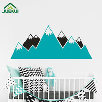 Wholesale Mountain Posters - Geometric Mountains Kids Room Wall Sticker Removable Vinyl Wall Decor Decals Home Decor Decoration Bedroom Wall Art Poster JA831