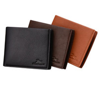 Wholesale genuine money purses for men - Business Wallet For Gift Men Leather Wallet Mens Portable Trifold Purse Credit Card Holder Money Coin Wallet For Men