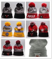 bere ekipleri toptan satış-2018 Yeni basketbol Futbol Kış Beanie Şapkalar Erkekler kadınlar için Spor takım Örme Beanie Yün Şapka Adam Kaput Gorros touca Kalınlaşmak Sıcak Kap