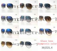 Wholesale progressive lenses glasses online - Progressive color lens brand HOT SALE summer luxury GOGGLE man UV400 protection Glass Sun glasses Fashion men women Pilot Sunglasses