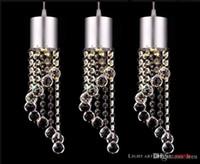 Wholesale minimalist k9 crystal pendant online - 2016 head crystal droplight Fashion LED Crystal Chandeliers Modern Minimalist K9 Crystal Pendant Light restaurant Living Room Lights