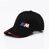 Wholesale m3 caps - Men Fashion Cotton Car logo M performance Baseball Cap hat for M3 M5 3 5 7 X1 X3 X4 X5 X6 330i Z4 GT 760li E30 E34 E36 E38