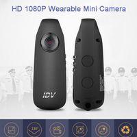 mini-recorder akku großhandel-IDV007 HD Digital Mini Kamera mit Clip Tragbare Mini DV Kamera Rauschunterdrückung Video Voice Recorder mit 560mAh Akku Kleine Auto DVR Cam