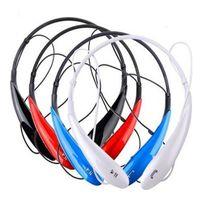 kulaklıklar bluetooth daha toptan satış-HBS800 Kablosuz Bluetooth Kulaklık Spor Stereo Boyun Bandı Handfree Samsung S8 HTC Için kulaklık ve Perakende Kutusu Ile daha fazla telefon