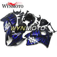 carenados de hayabusa negro azul al por mayor-Para Suzuki GSXR1300 Hayabusa Año 1997 - 2007 Inyección de ABS Carenados Inyección de alta calidad Carroceria New Black Blue Flame Hulls
